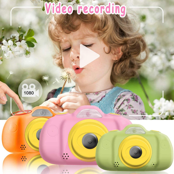 Kids Camera for Girls Boys Toddlers, 1080P FHD Selfie Digital Camera 12 MP DUAL Lens Selfie Camera Shockproof Children Camera with Puzzle Game/MP3, Children Birthday Holiday Toy Gifts (16GB SD Card ) - MASS Wholesalers