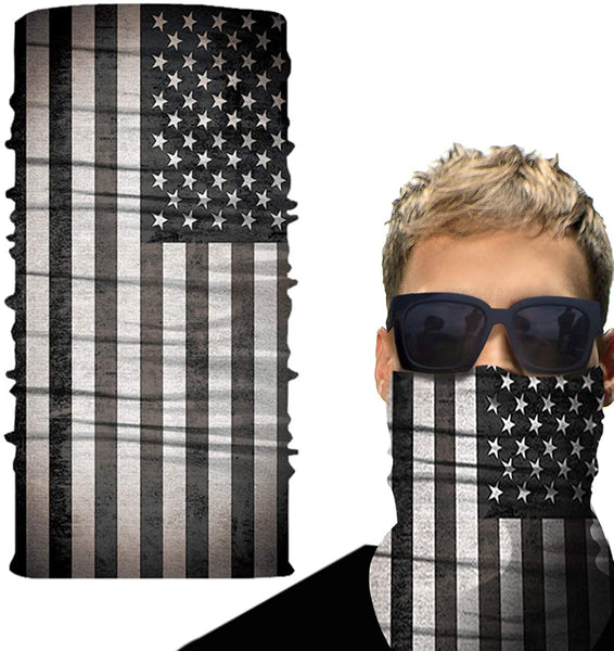 Huryfox American Flag Neck Gaiter, Summer Face Cover Bandana Headwear for Men - MASS Wholesalers
