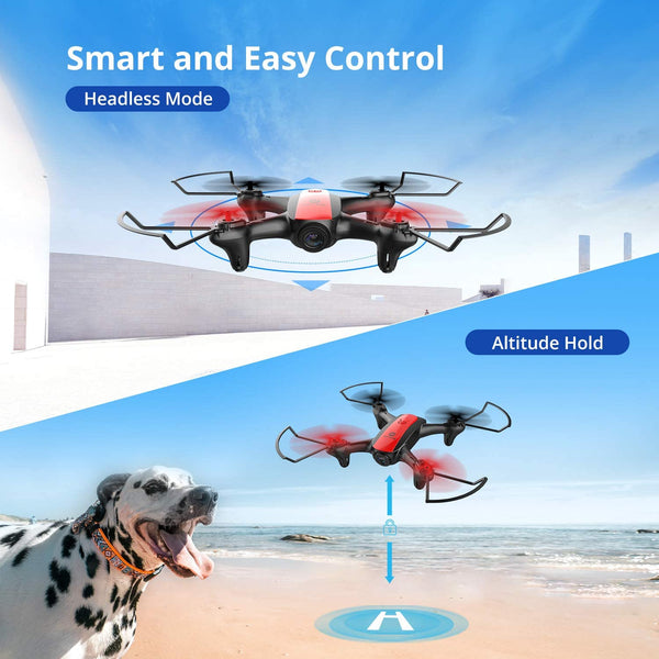 Holy Stone HS370 FPV Drone with Camera for Kids and Adults 720P HD WiFi Transmission, RC Quadcopter for Beginners with Altitude Hold, One Key Start/Land, Draw Path, 3D Flips 2 Modular Batteries - MASS Wholesalers