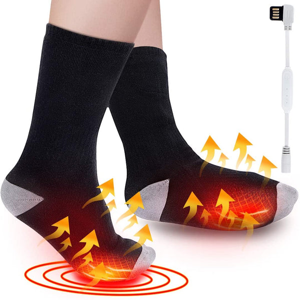 Electric Heated Socks with 3 Heating Settings, Foot Warmer for Outdoor Hiking Hunting Camping Riding Motorcycle Skiing, Cold Weather Thermal, Heated Arthritis Foot Warmer Socks for Chronically Feet - MASS Wholesalers