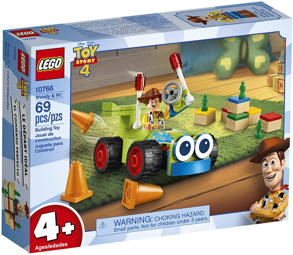 LEGO | Disney Pixar's Toy Story 4 Woody & RC 10766 Building Kit (69 Pieces) - MASS Wholesalers