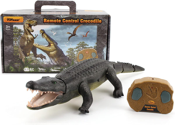 Top Race Remote Control Crocodile, RC Animal Moves Like a Real Crocodile - MASS Wholesalers