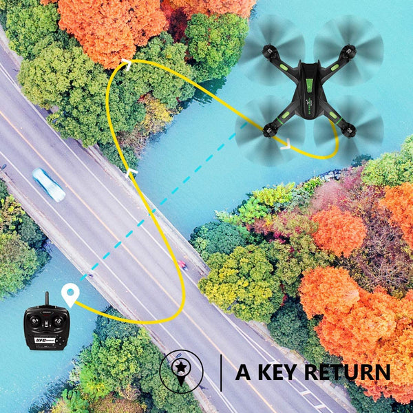 LBLA FPV Drone with WiFi Camera Live Video Headless Mode 2.4Ghz 4 Ch 6 Axis Gyro RTF RC Quadcopter, Compatible with 3D VR Headset, Black - MASS Wholesalers