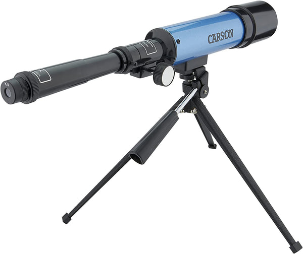 Carson Aim Refractor Type 18x-80x Power Telescope with Tabletop Tripod (MTEL-50) - MASS Wholesalers