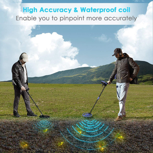 INTEY Metal Detector, Included Shovel and Carrying Bags, High-Accuracy Metal Finder with Waterproof Search Coil, Sound Prompt, Depth Indicator, Easy for Adults and Kids to Treasure Hunting - MASS Wholesalers