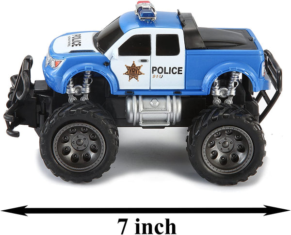 Joyin Toy RC Remote Control Police Car Monster Truck Radio Control Kids Police Toy Cars - MASS Wholesalers