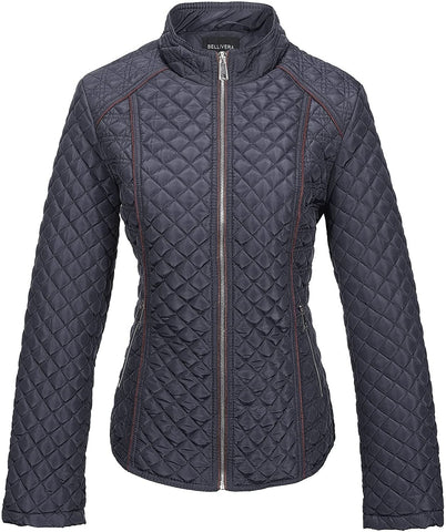 Bellivera Women's Quilted Lightweight Padding Jacket/Vest, Puffer Coat Cotton Filling - MASS Wholesalers