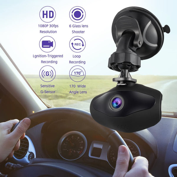 Dash Camera, Sendowtek 1080P FHD DVR Car Driving Recorder 1.5 Inch LCD Screen 170° Wide Angle 6G Lens Vehicle Dash Cam with G-Sensor Loop Recording Motion Detection - MASS Wholesalers