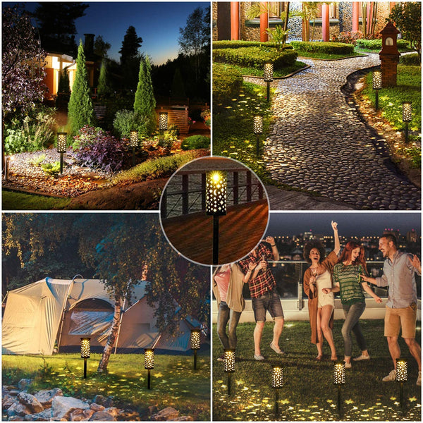 Bearbro Solar Lamps Garden,6pcs Solar Pathway Lights Outdoor,Decorative Garden Lights,Waterproof,Water Density IP44 Led Landscape Lantern for Walkway, Path, Lawn, Patio,Yard (Bronze2 -6PCS) - MASS Wholesalers