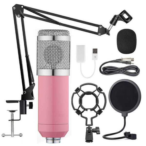 KINCO Professional BM 800 Home Studio Recording Condenser Microphone Set  + Broadcasting Kit - MASS Wholesalers