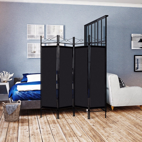 Modern Steel Frame 4 Panel Room Divider Privacy Screen - MASS Wholesalers