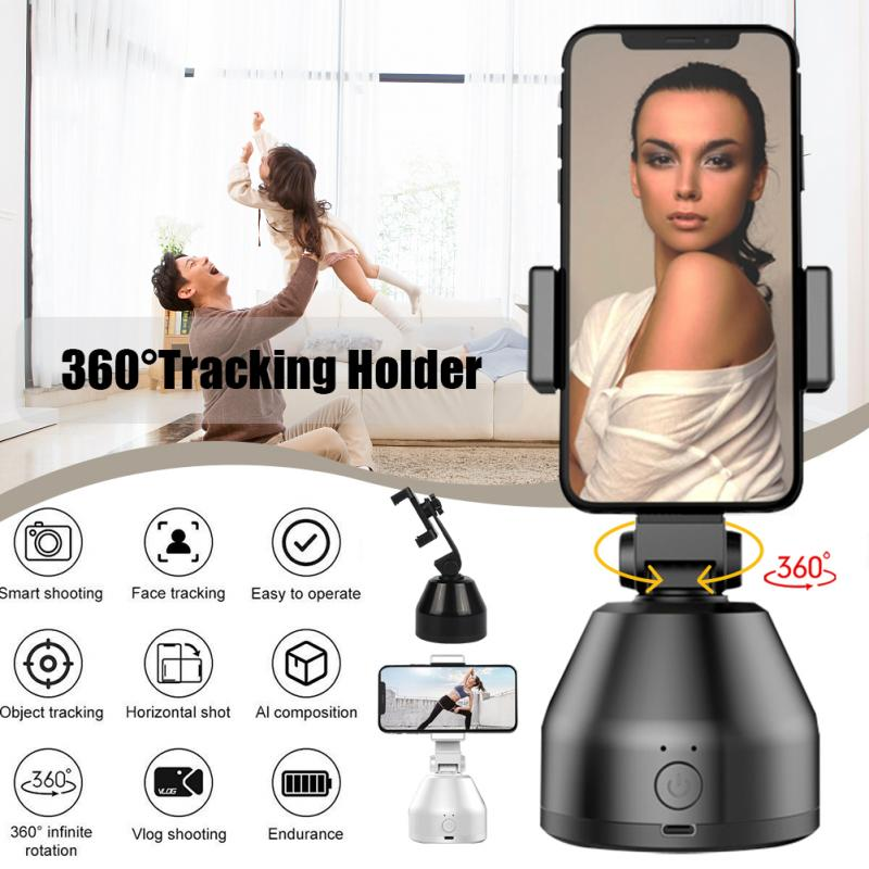 Smart Robot IA Face Cameraman 360° Rotation Face Tracking Mobile Phone Stand ABS Plastic Dropship - MASS Wholesalers