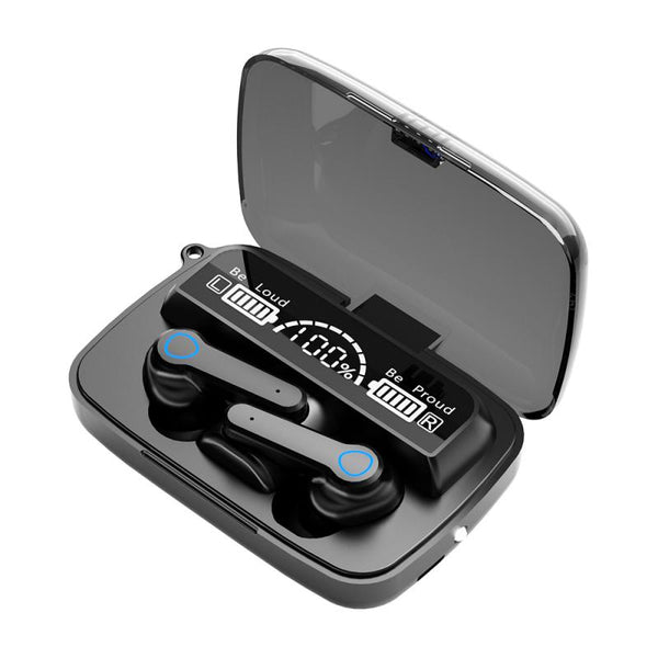 M19 Earbuds TWS Wireless Bluetooth 5.1 Headphone With LED Digital Power Display 9D Bass Stereo Sport Earphone Hifi Sound Quality - MASS Wholesalers