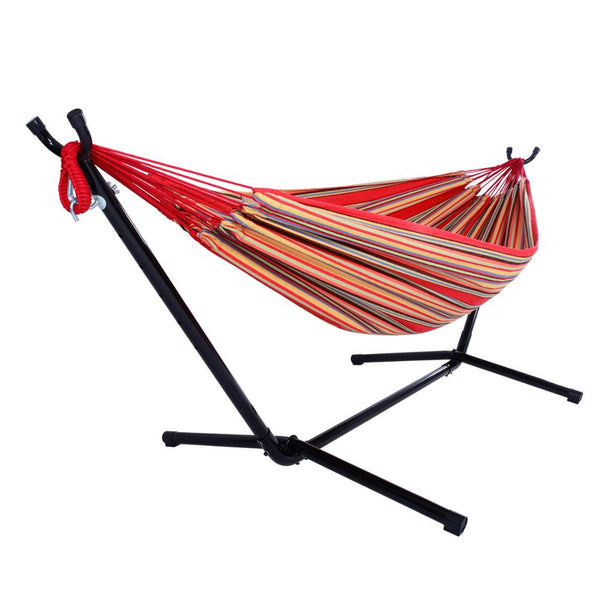 Portable Hammock Outdoor Polyester Suit Red (Including Bed Frame) - MASS Wholesalers