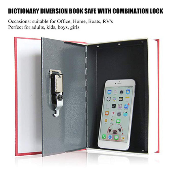 Solid Steel Dictionary Book Safe Digital Password Locker - MASS Wholesalers