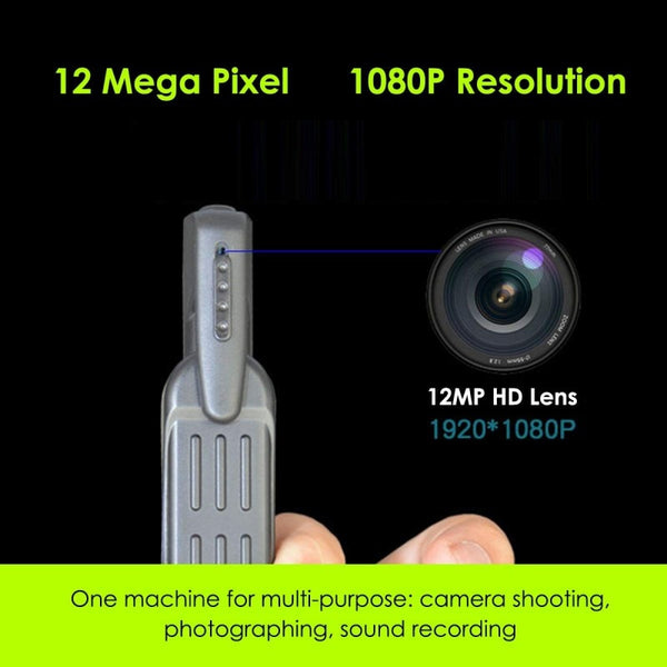 T189 Mini Camera Full HD 1080P Wearable Small Pen Camera Mini DVR Digital Mini DV Camera Camcorders For Meeting Wholesale - MASS Wholesalers
