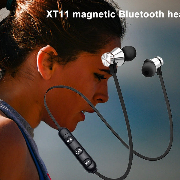 XT11 Magnetic Wireless Bluetooth Sports Waterproof Wireless in-ear Headset with Mic - MASS Wholesalers