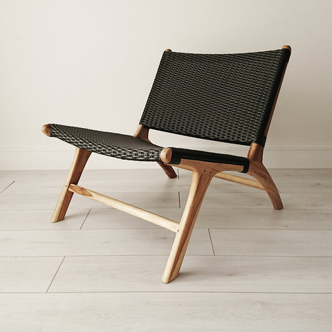 Marlborough Lounge Chair Natural + White