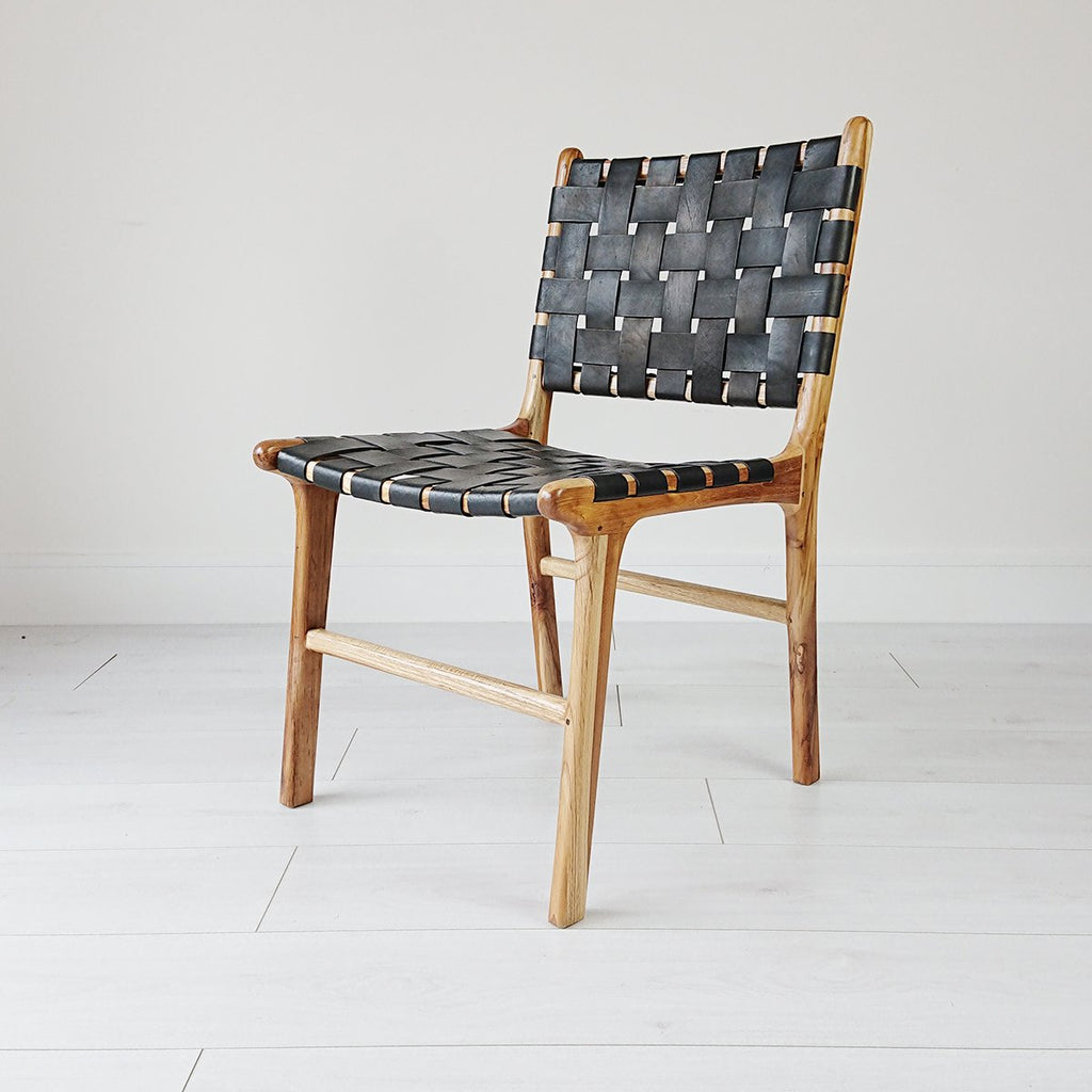 Anya Dining Chair Natural + Black