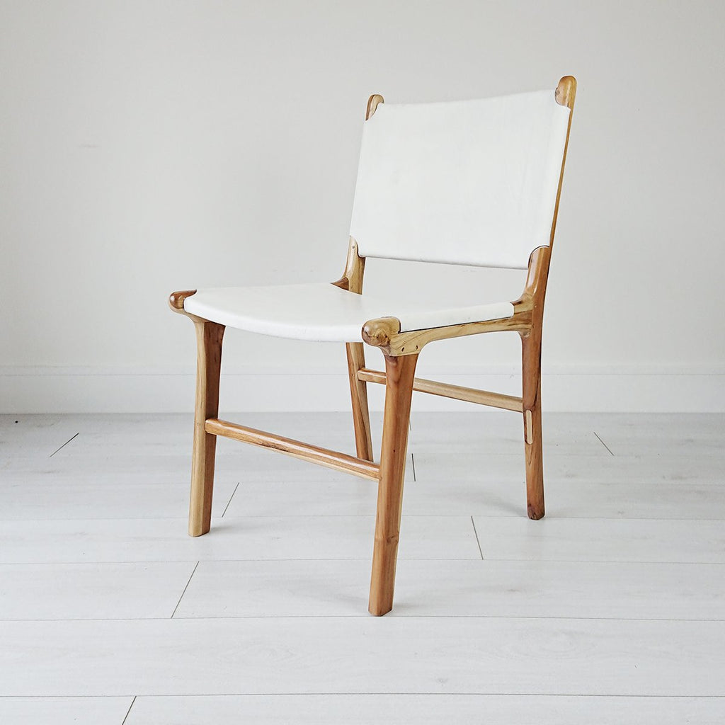 London Dining Chair Natural + White