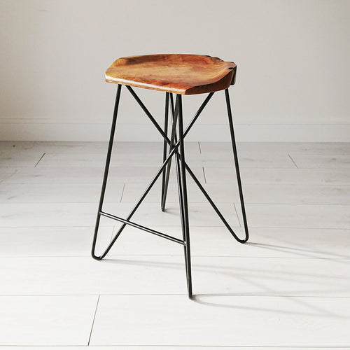 Criss Cross Rustic Stool from Souk Collective