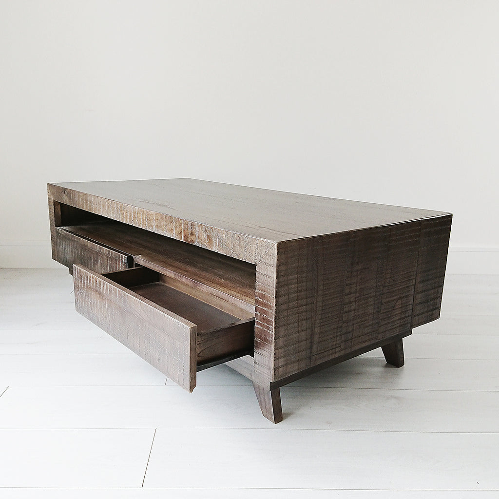 Sawcut Blackwashed Coffee Table