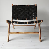 Anya Lounge Chair Natural + Black