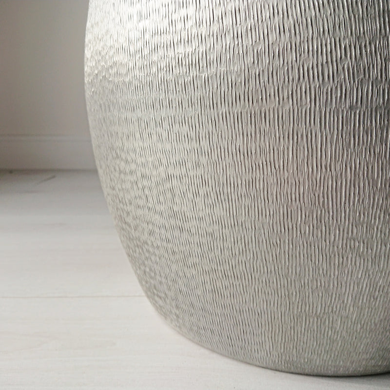 Textured Aluminium Side Table from Souk Collective