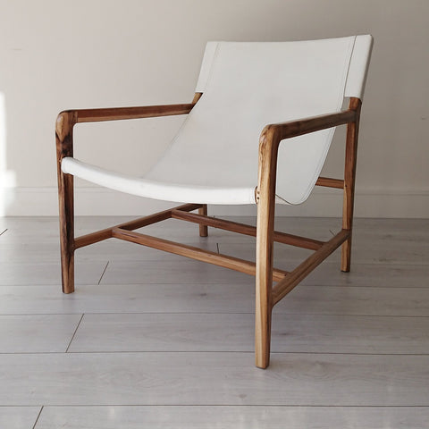 Anya Lounge Chair Whitewash + White