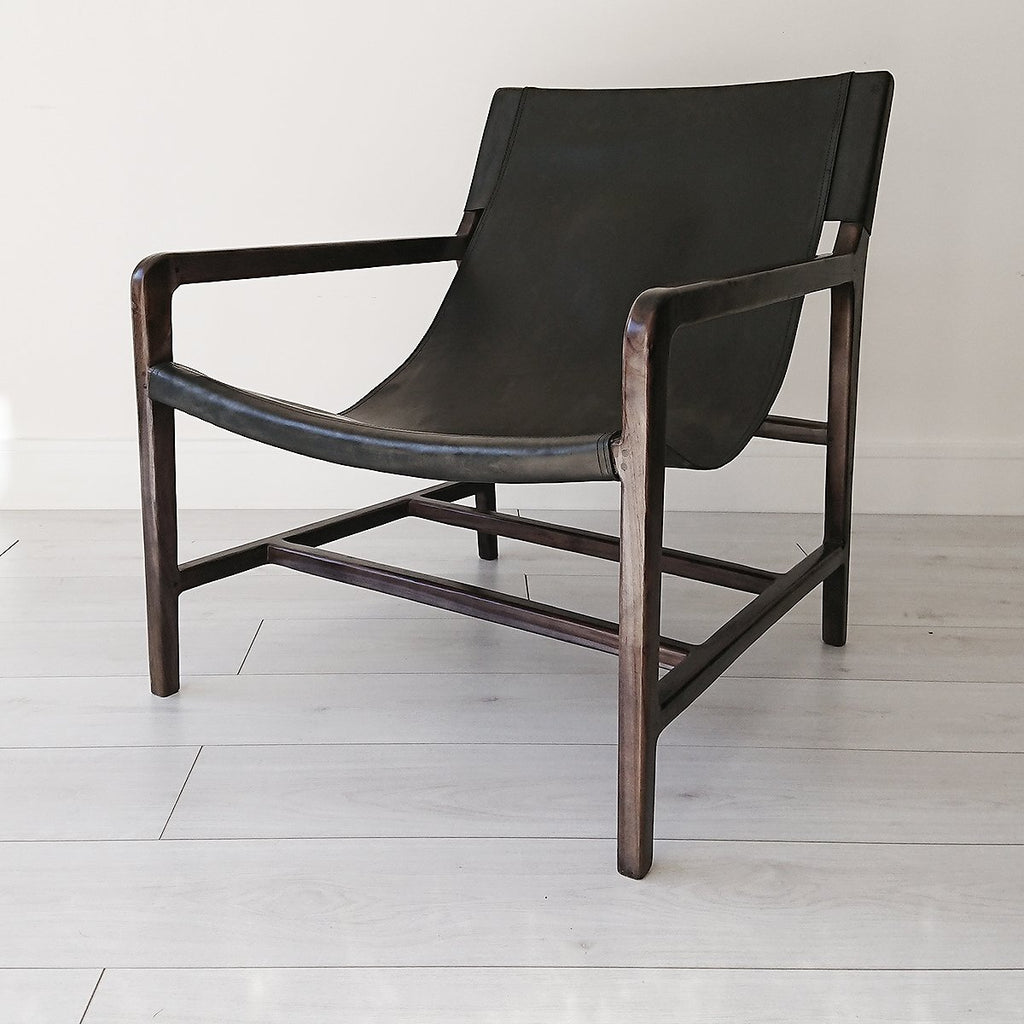 Stacy Leather Sling Armchair from Souk Collective