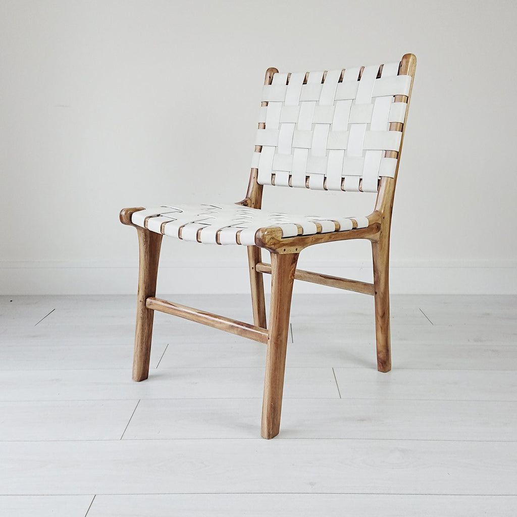 Anya Dining Chair Natural + White