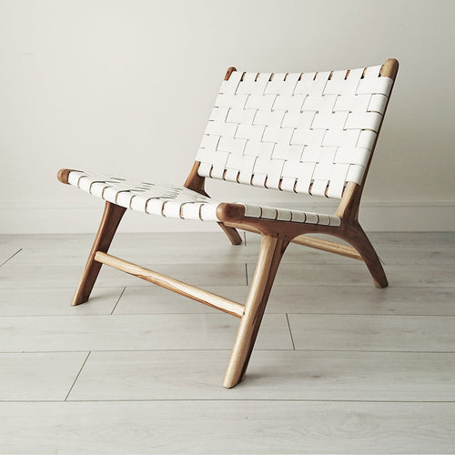 Anya Lounge Chair Natural + White