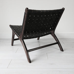 Anya Lounge Chair Black + Black