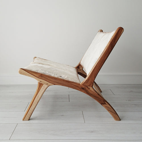Marlboro Goat Hide Lounge Chair from Souk Collective