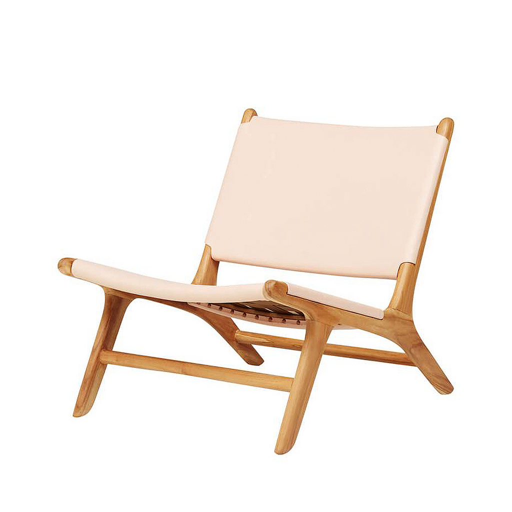 Catania Leather Lounge Chair from Souk Collective UK