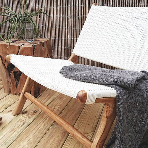 Anya Outdoor Lounge Chair White