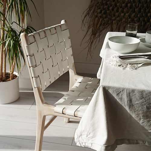 Anya Dining Chair Whitewash + White