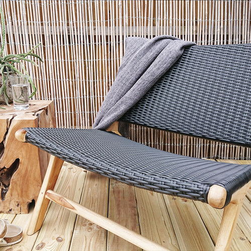 Anya Outdoor Lounge Chair Black