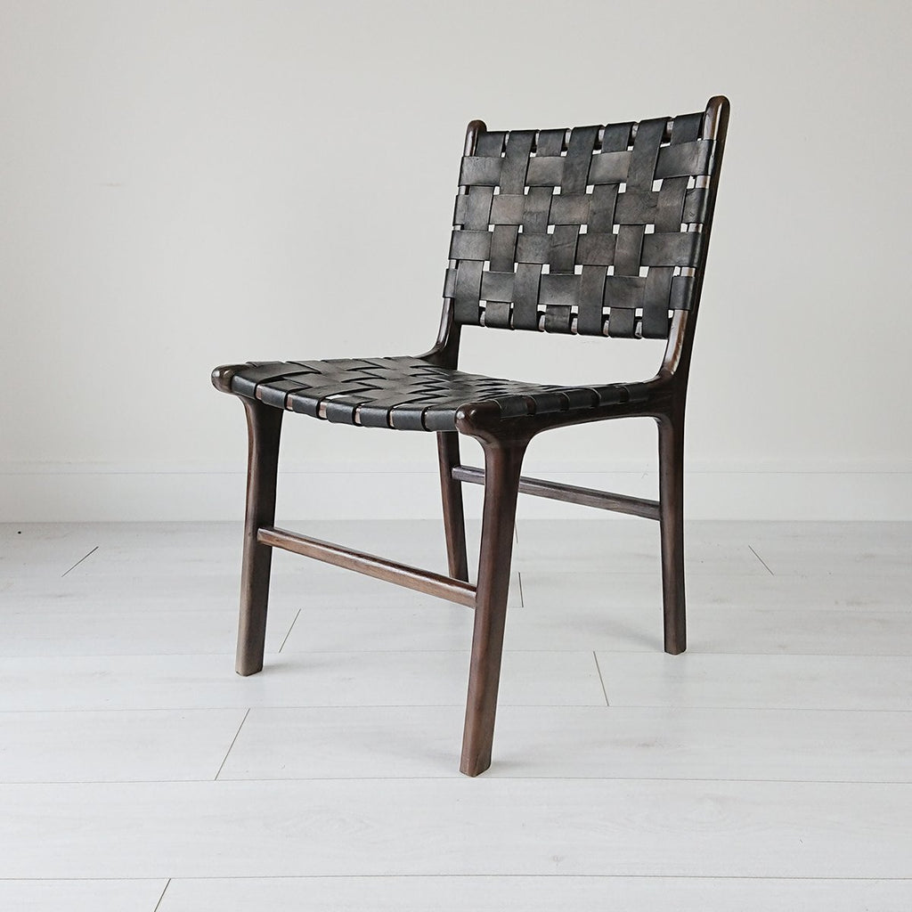 Anya Dining Chair Blackwash + Black
