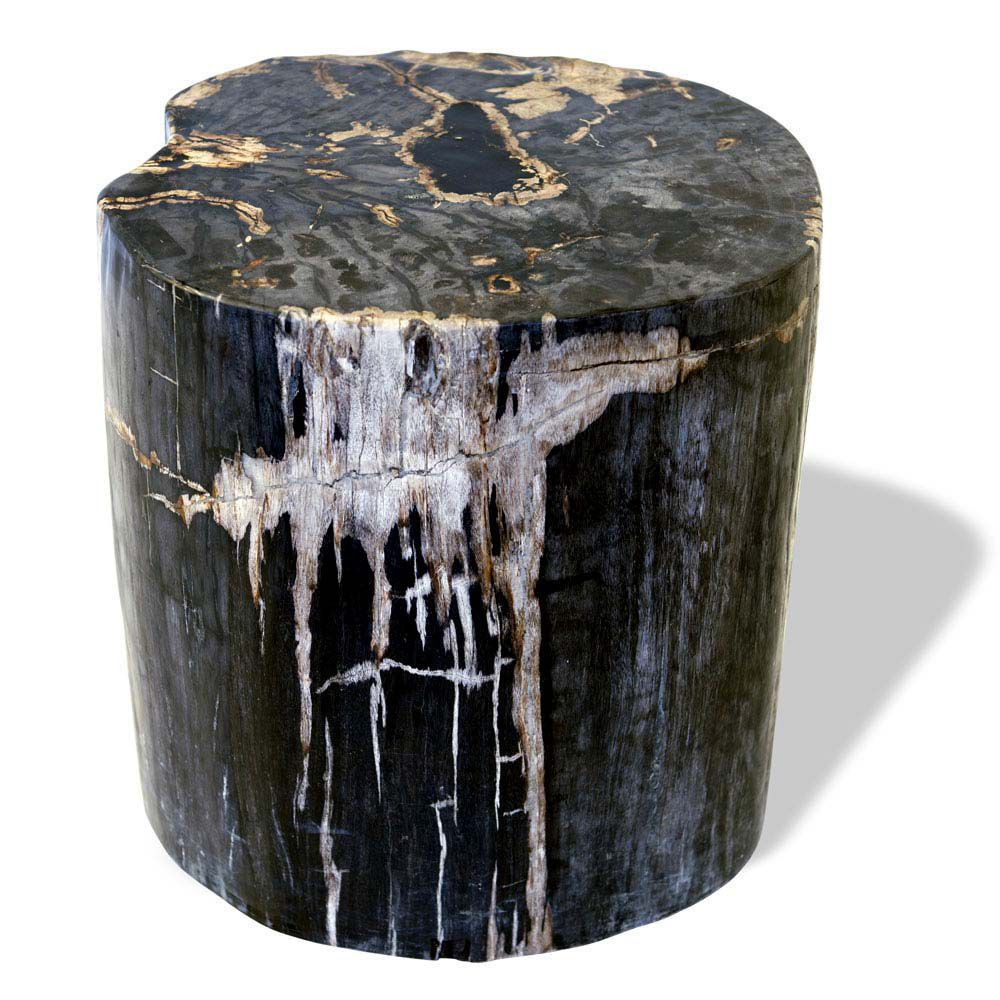 Petrified Wood Side Table Black from Souk Collective UK