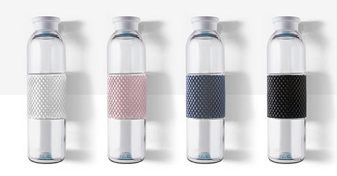 glass water bottle. healthy Christmas gift ideas. healthy holiday gift guide.
