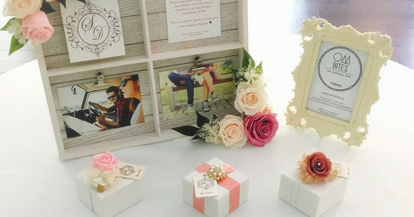 Ideas for unique wedding favours in Toronto. Order customized wedding favours from OMBITES.