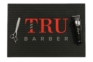 Barber Mat- Black/Red