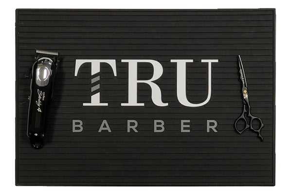 Barber Mat- Black/White