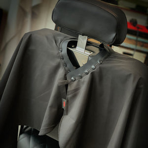 TruBarber Cape- Black/White