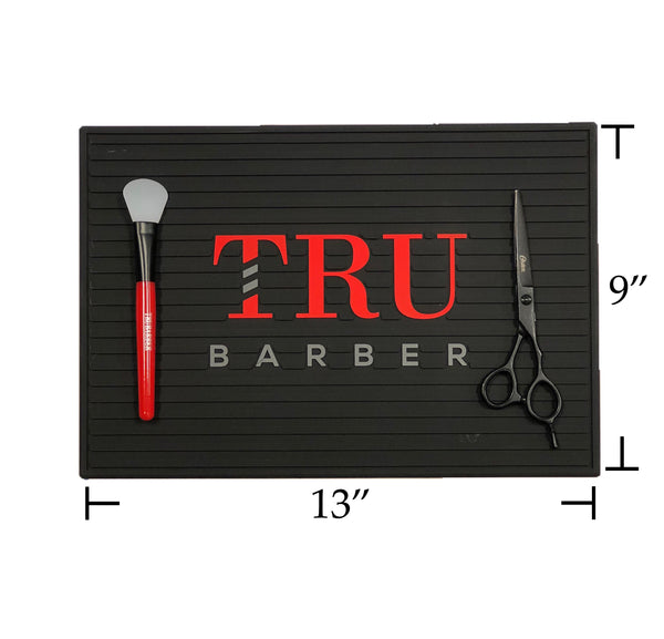 Barber Mat- Small Black/Red