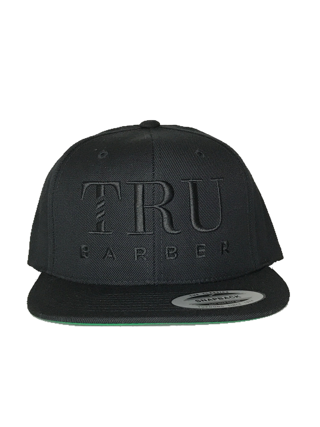 TruBarber Snapback-All Black