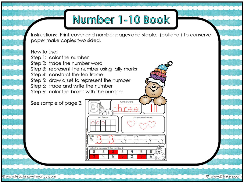 Winter Number Book