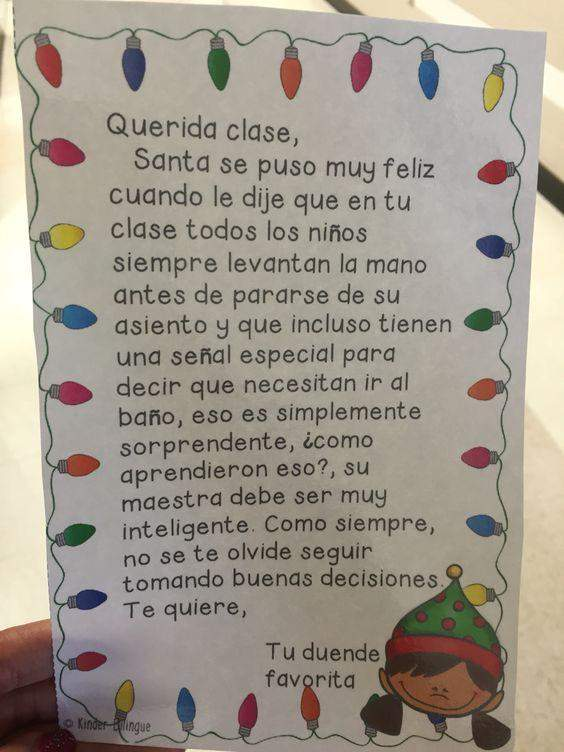 Holiday elf unit in Spanish