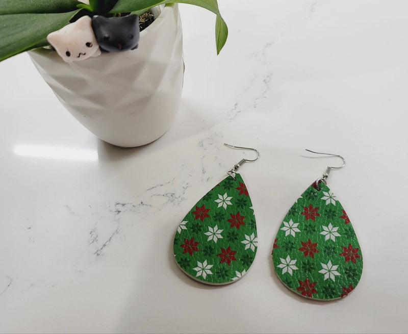 ⛄Winter Faux Leather Earrings⛄